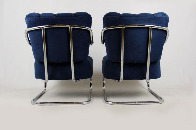 Steel Cantilever Armchairs from Mücke Melder, 1930s, Set of Two For Sale