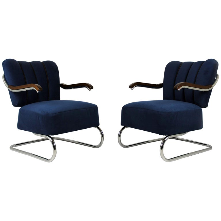 Cantilever Armchairs from Mücke Melder, 1930s, Set of Two For Sale