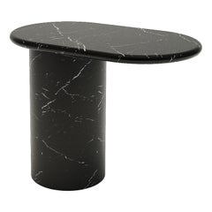 Cantilever S Nero Marquina Marble End Table