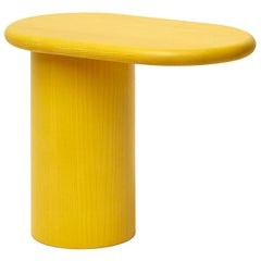 Cantilever S Yellow Wood End Table by Matteo Zorzenoni