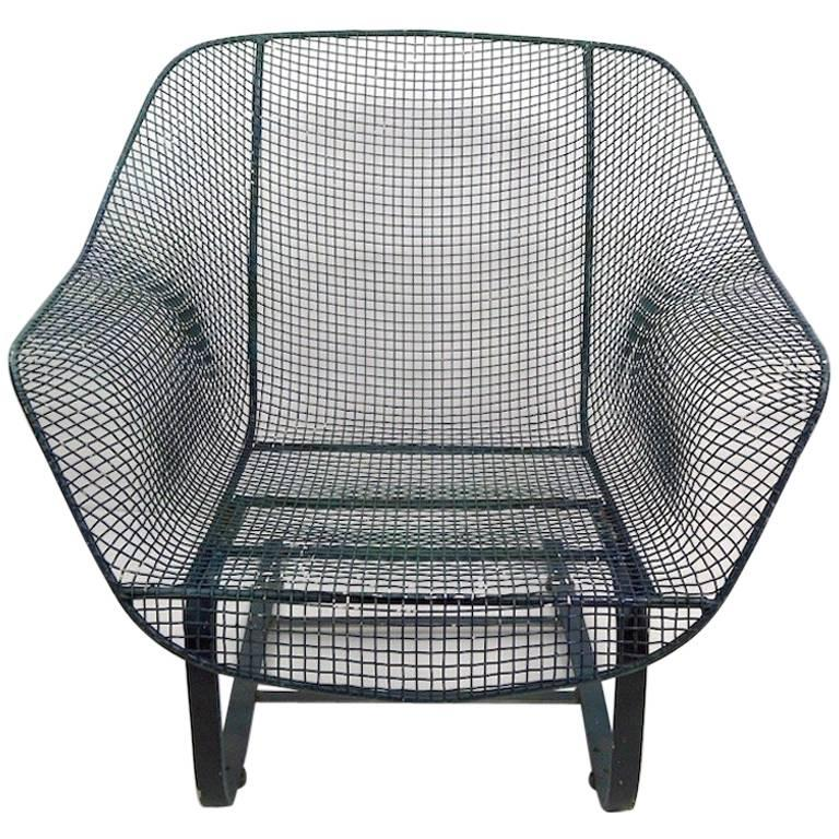 Cantilevered Lounge Chair by Woodard For Sale