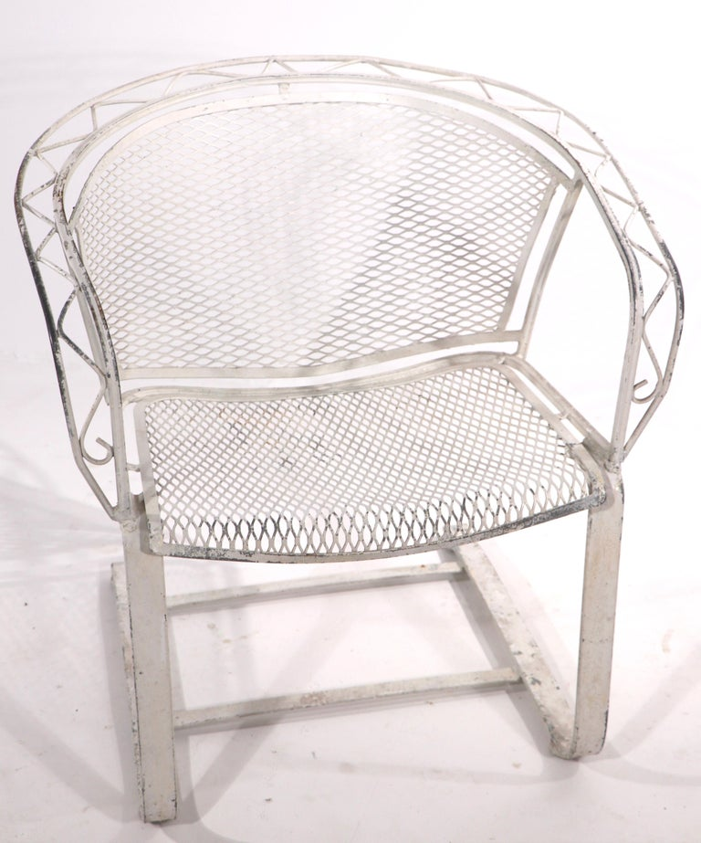 American Cantilevered Salterini Lounge Patio Garden Chair For Sale