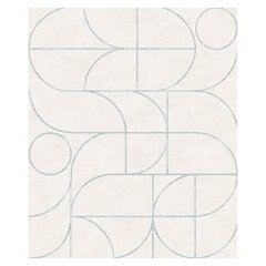 Cantinela Aligera, Beige Living Room Hand-Knotted Wool Blend-Silk Rug