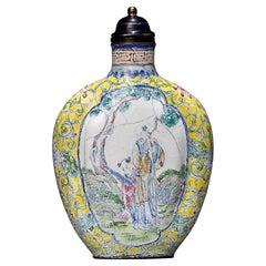 Canton Enamel Snuff Bottle, China, Qing Dynasty, 1644-1912