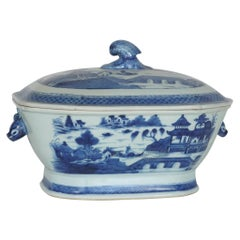 Canton Large Lidded Tureen 19th Century Chinese Export