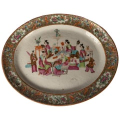 Cantonese Famille Rose Porcelain Charger, circa 1880