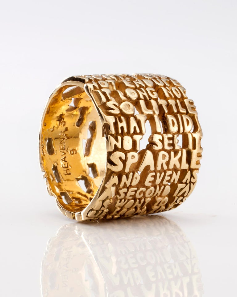 Heaven-III ring, in 18-karat gold. From the