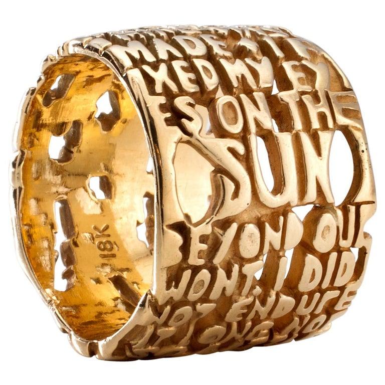 """""""Cantos"""" Heaven-III Ring in 18 Karat Gold by Anne Fischer, 2007"""