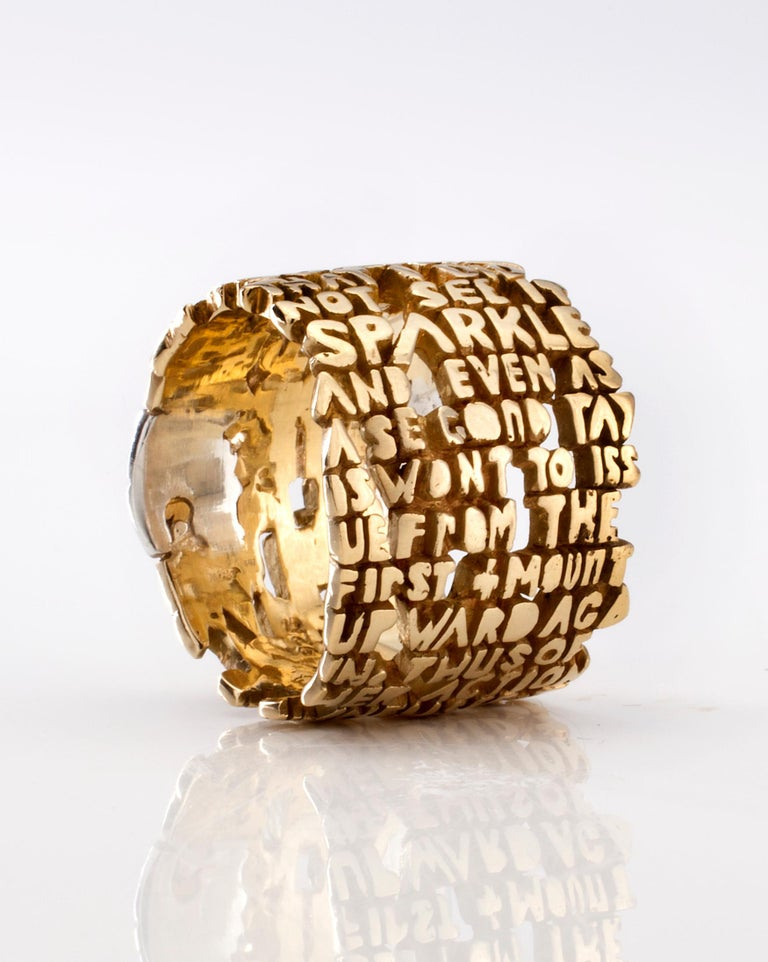 Heaven-VI Ring, in 18-karat gold with sterling silver insert. From the