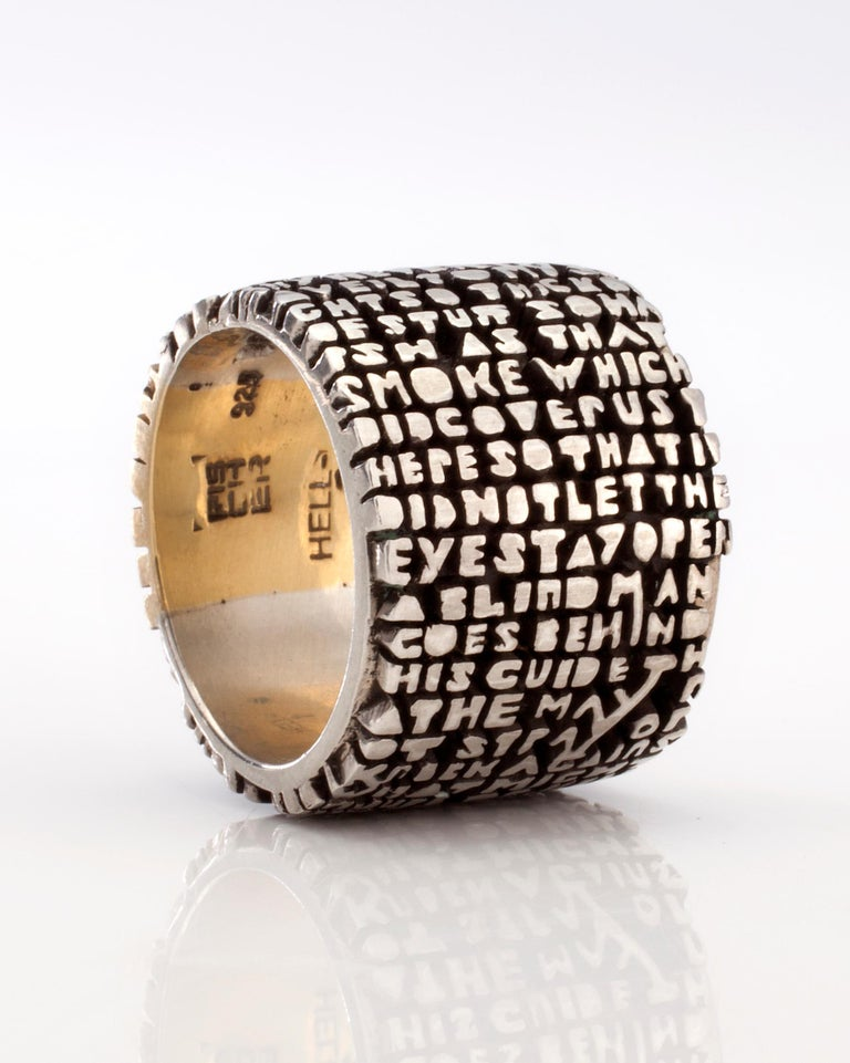 Hell-III Ring, in sterling silver with 18-karat gold insert. From the