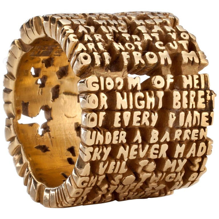 """Cantos"" Hell-VII Ring in 18-Karat Gold by Anne Fischer, 2007 For Sale"