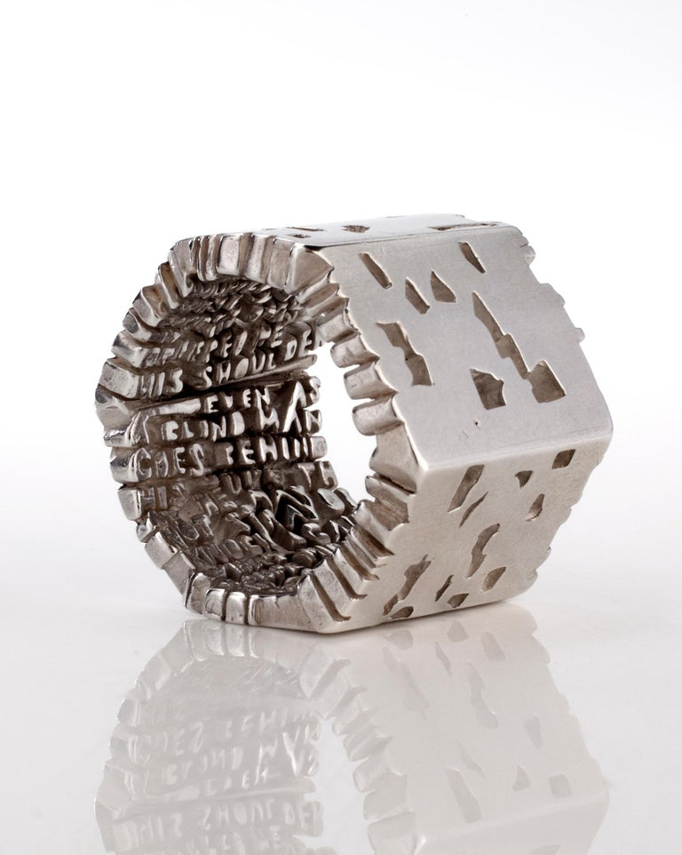 Hell-X ring, inside-out, in sterling silver. From the