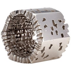 """Cantos"" Hell-X Ring in Sterling Silver by by Anne Fischer, 2012"
