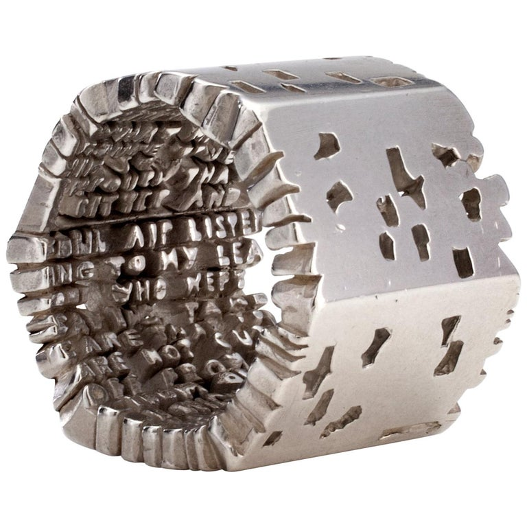 """""""Cantos"""" Hell-X Ring in Sterling Silver by by Anne Fischer, 2012 For Sale"""