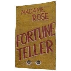 Canvas Fortune Teller Sideshow Banner, circa 1950s