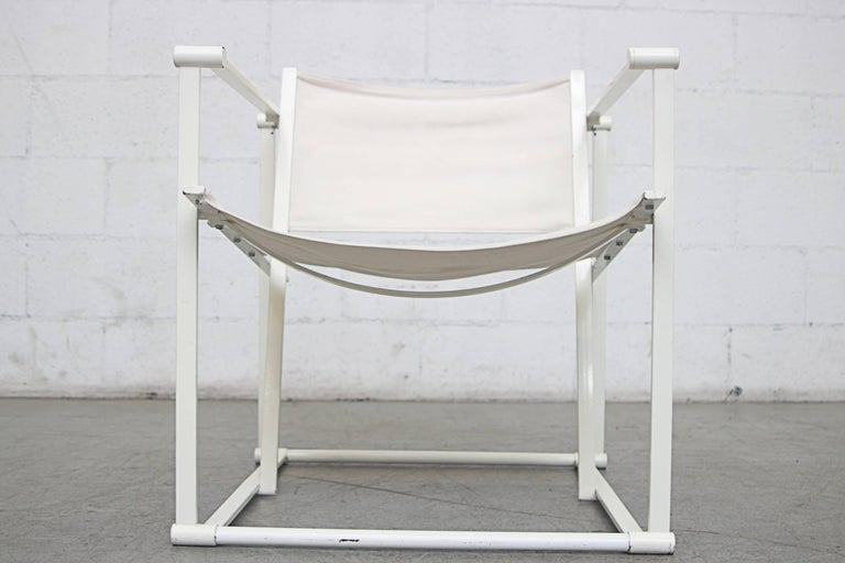 Canvas Pastoe Cube Lounge Chairs by Radboud Van Beekum For Sale 5