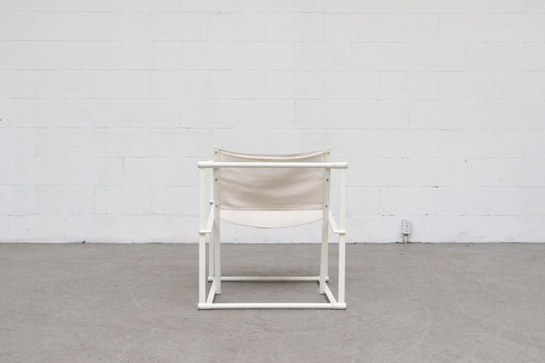 Late 20th Century Canvas Pastoe Cube Lounge Chairs by Radboud Van Beekum For Sale