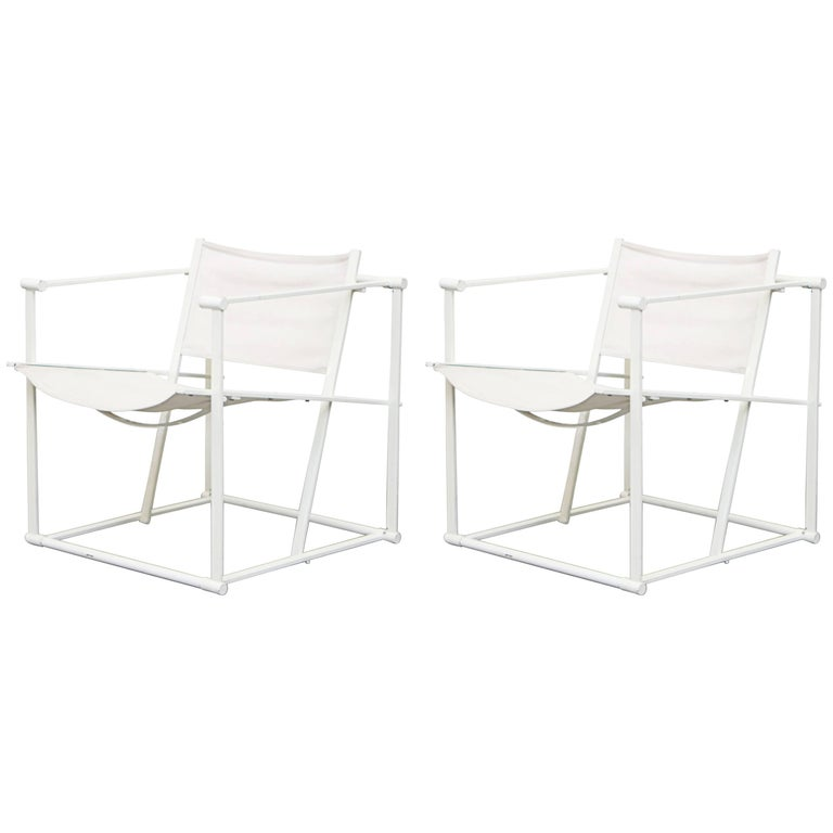 Canvas Pastoe Cube Lounge Chairs by Radboud Van Beekum For Sale