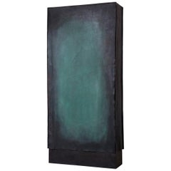 'Canvas' Personalized Cabinet in Leather and Steel, Also as Room Devider