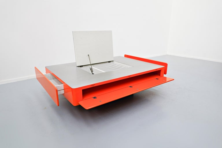 Metal Caori Coffee Table by Vico Magistretti for Gavina, Italy, 1960s For Sale