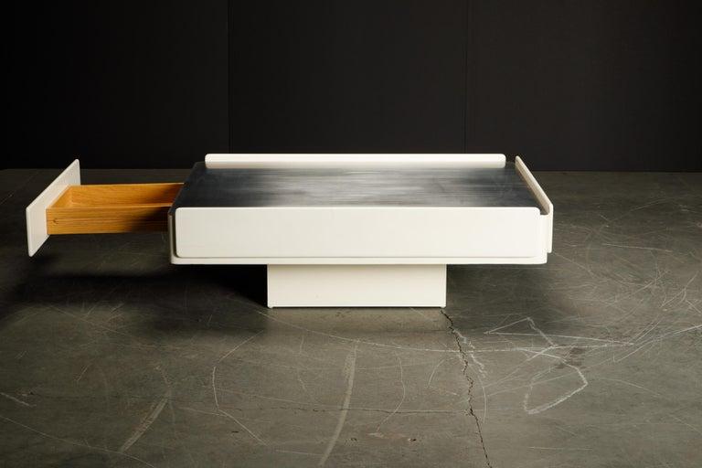 Lacquered 'Caori' Attributed Coffee Table by Vico Magistretti for Gavina