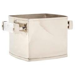 CAPA Champagne Bucket, Alpaca Silver & Gray Marble