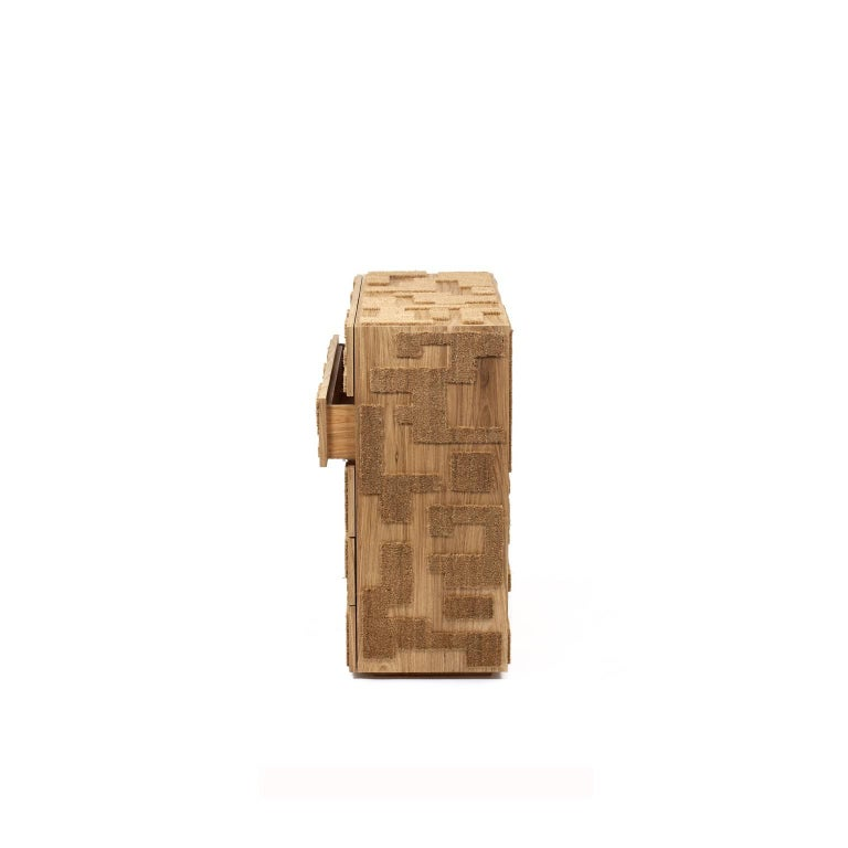 Wood Capacho Contemporary Chest of Drawers by Fernando and Humberto Campana For Sale