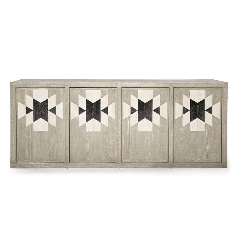 Capistrano Anrichte aus Rustikalem Holz mit Geometrischem Muster von Badgley Mischka Home 2