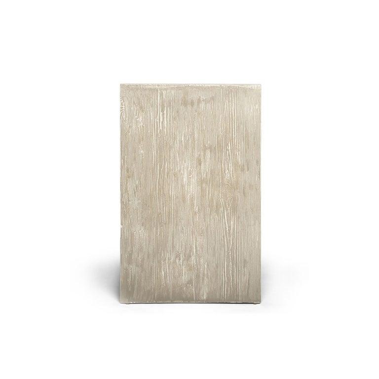 Capistrano Credenza in Rustic Wood W/ Geometric Pattern by Badgley Mischka Home 4