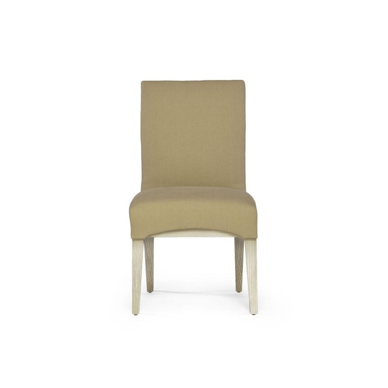 Capistrano Dining Side Chair with Wood and Gold Leaf Frame, Badgley Mischka Home 2