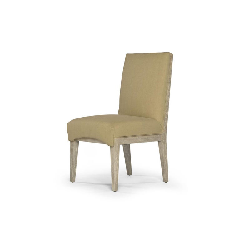 Capistrano Dining Side Chair with Wood and Gold Leaf Frame, Badgley Mischka Home 4