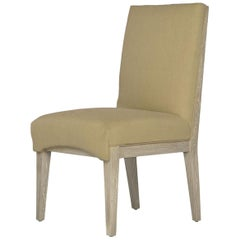 Capistrano Dining Side Chair with Wood and Gold Leaf Frame, Badgley Mischka Home