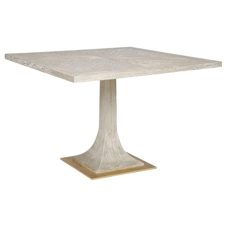 Modern Capistrano Dining Table in Chocolate & Onyx Finish by Badgley Mischka Home For Sale