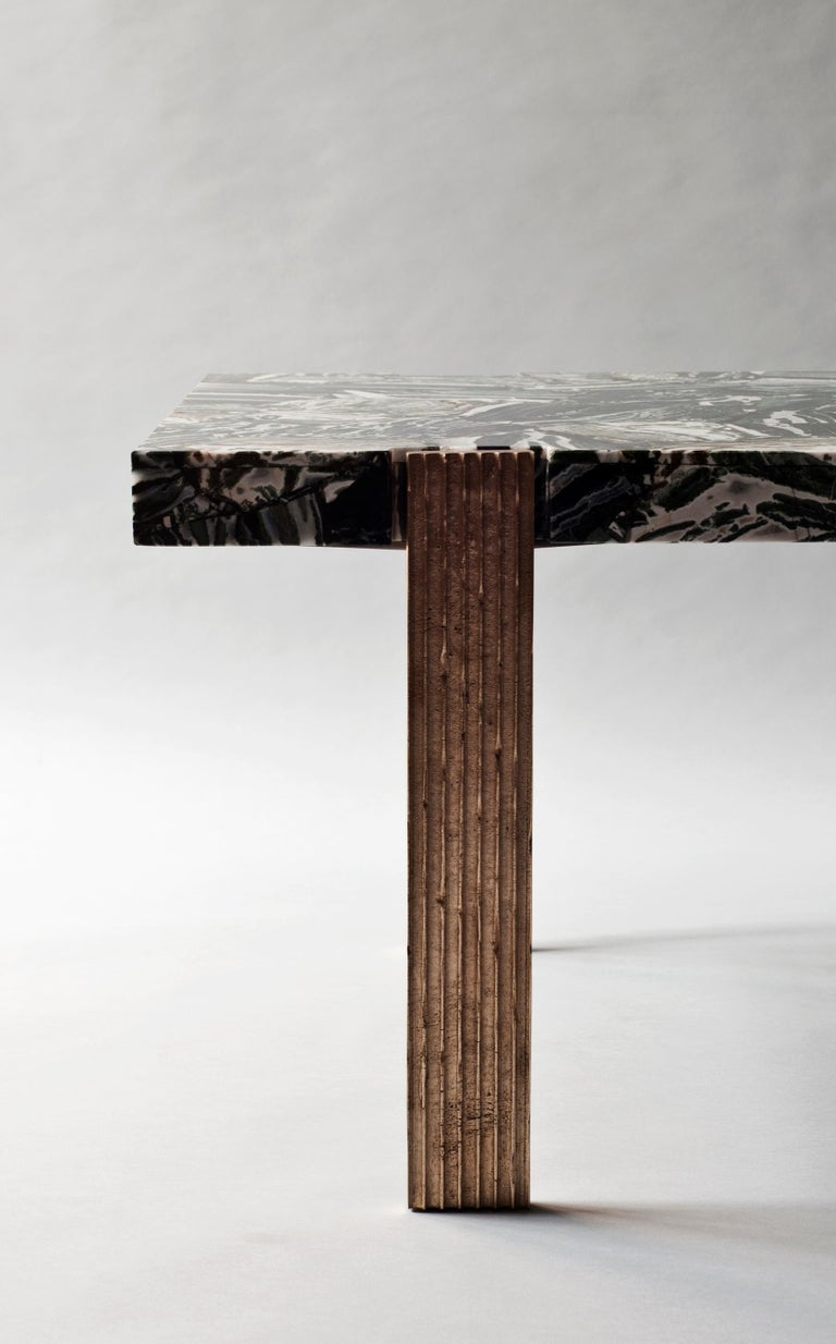 Contemporary Capital Coffee Table by DeMuro Das  For Sale