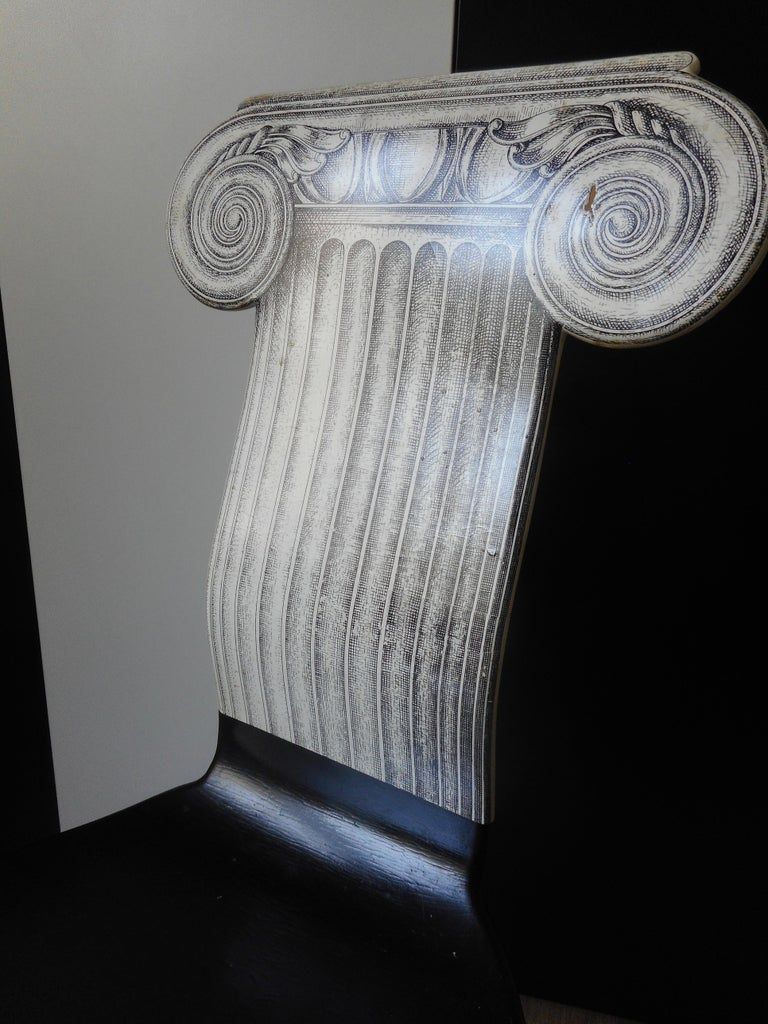 Italian Capitello Chair by Fornasetti, Italy, 1988 For Sale