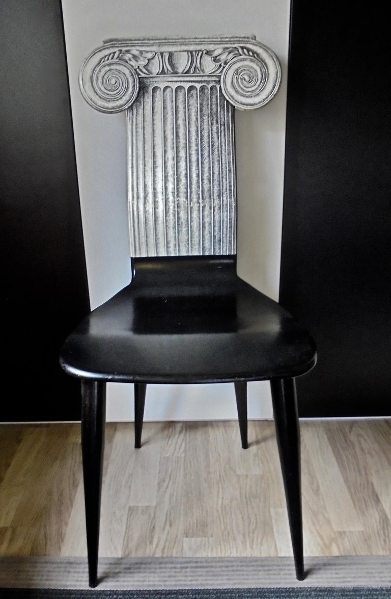 Mid-Century Modern Capitello Chair by Fornasetti, Italy, 1988 For Sale