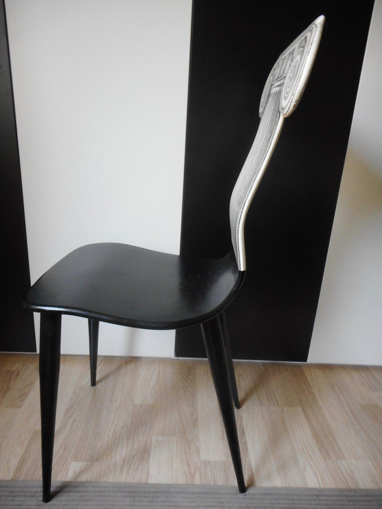 Lacquered Capitello Chair by Fornasetti, Italy, 1988 For Sale