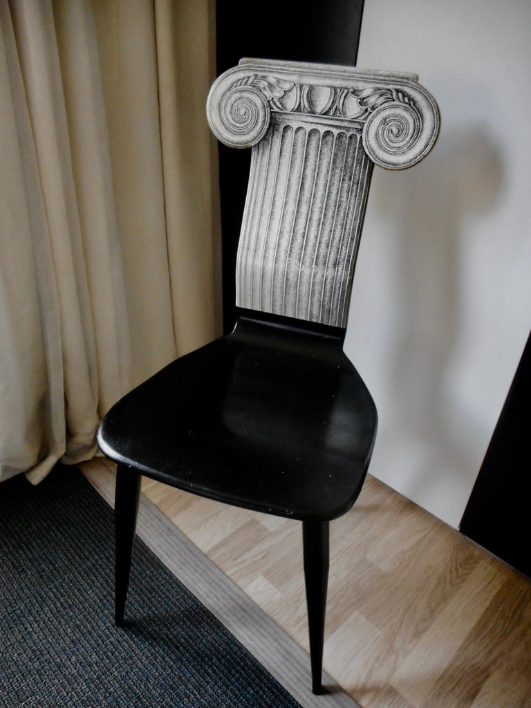 Late 20th Century Capitello Chair by Fornasetti, Italy, 1988 For Sale