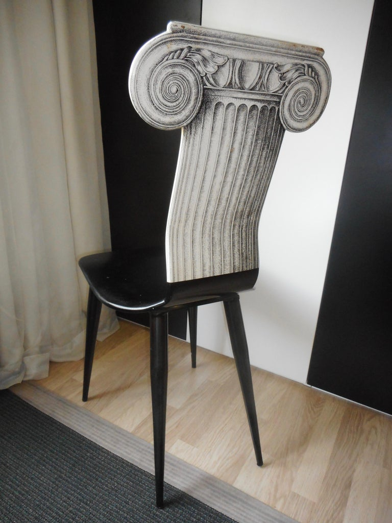Wood Capitello Chair by Fornasetti, Italy, 1988 For Sale