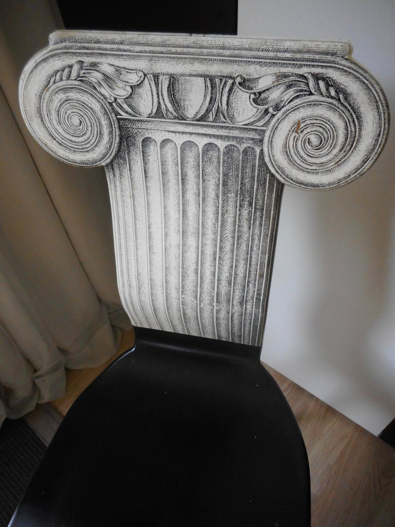 Capitello Chair by Fornasetti, Italy, 1988 For Sale 1