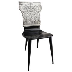 Capitello Corinzio Chair by Piero Fornasetti