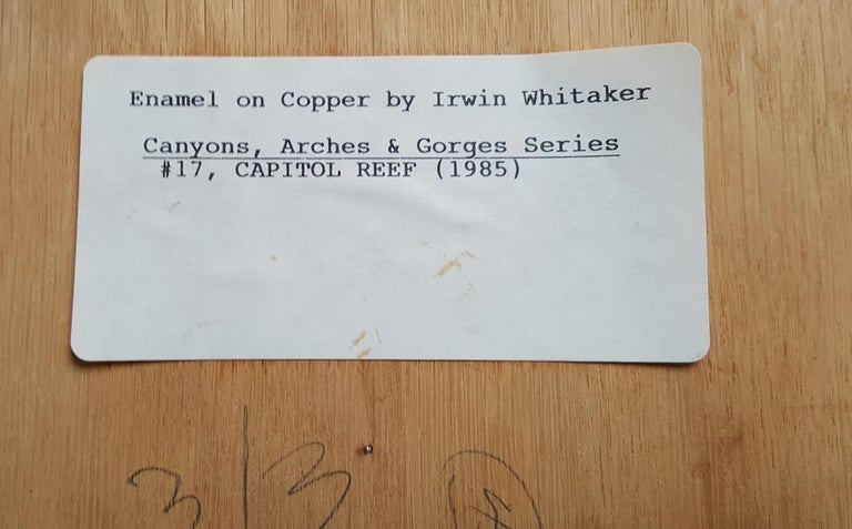 'Capitol Reef' by Irwin Whitaker In Excellent Condition For Sale In Dallas, TX