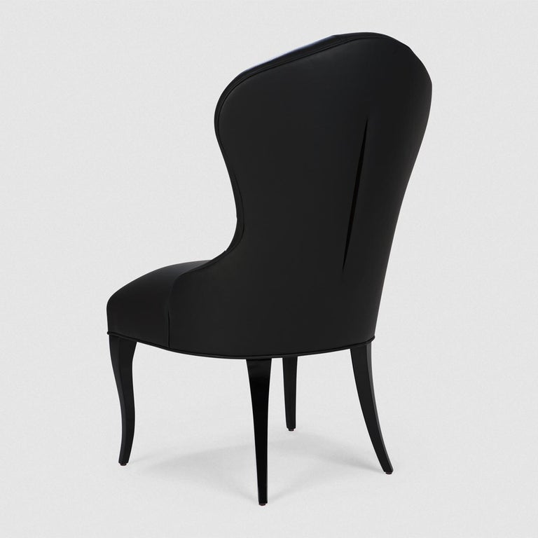 Capiton Dark Chair In New Condition For Sale In Paris, FR