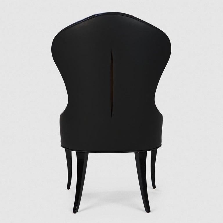 Contemporary Capiton Dark Chair For Sale