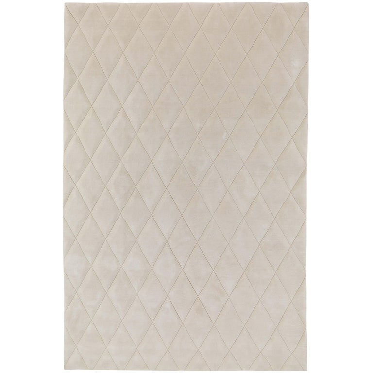 Capitone Hand-Knotted 6x4 Floor Rug in Wool by Jaime Hayon For Sale