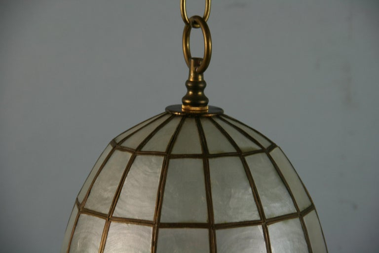 Capiz Shell Bell Pendant For Sale 1