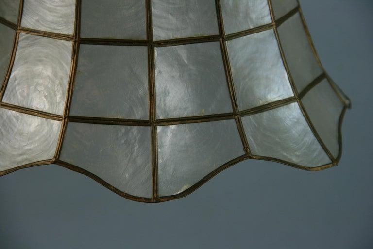 Capiz Shell Bell Pendant For Sale 2