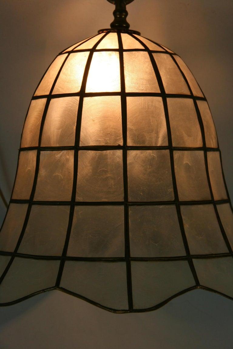 Capiz Shell Bell Pendant For Sale 3