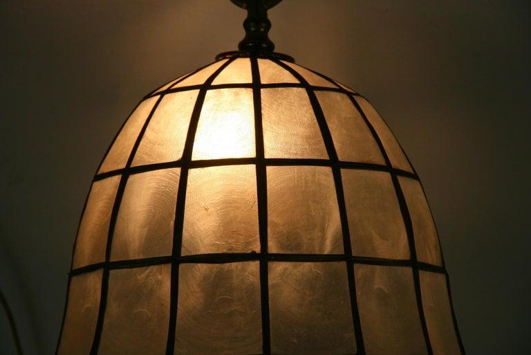 Capiz Shell Bell Pendant For Sale 4