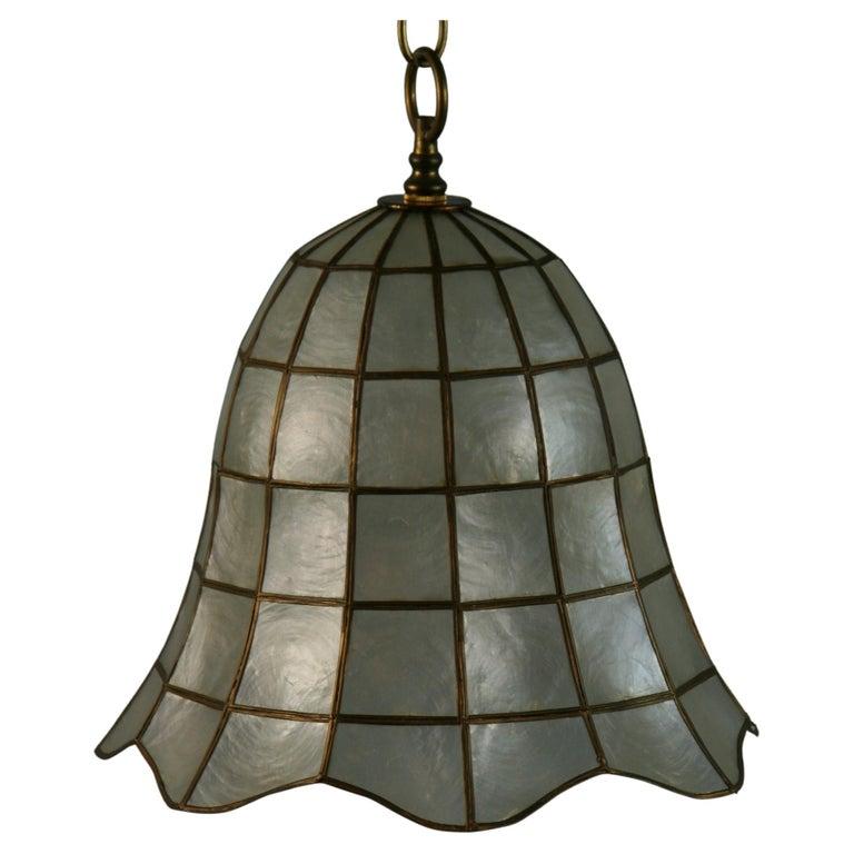 Capiz Shell Bell Pendant For Sale